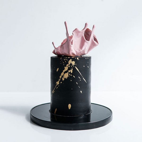 Sweet LionHeart's black splash vegan cake
